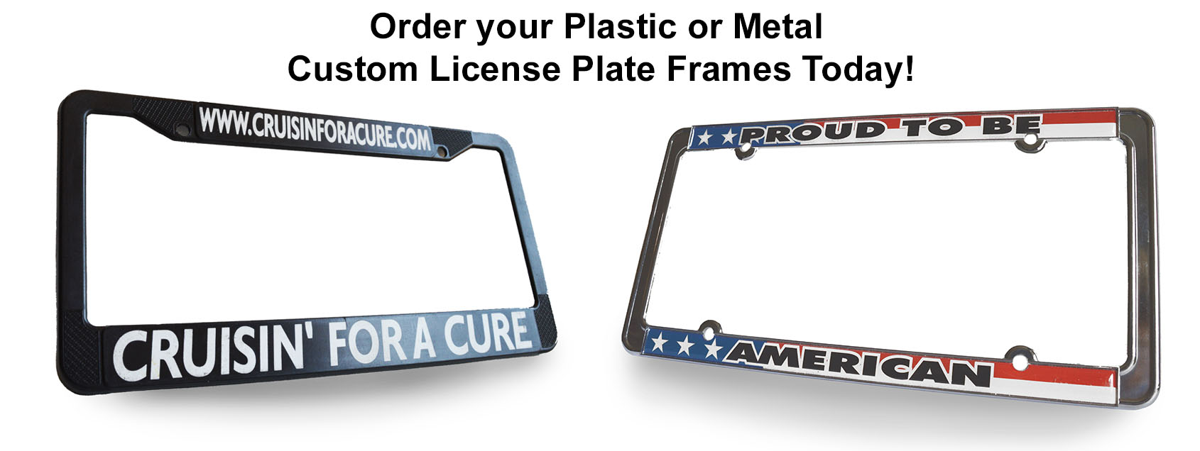 CUSTOM LICENSE PLATE FRAMES .NET